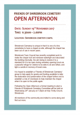 Shirebrook Cemetery Chapel - Open Afternoon