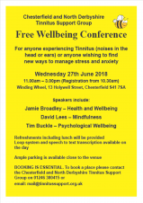 Well-being Conference - Chesterfield & North Derbyshire Tinnitus Support Group