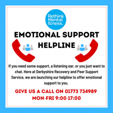 Derbyshire Recovery & Peer Support Service – Emotional Support Helpline