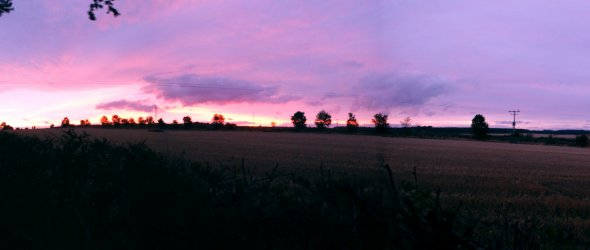 Shirebrook at sunset