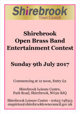 Shirebrook Open Brass Band Entertainment Contest