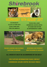 Leisure Centre (Day Trip) - Yorkshire Wildlife Park
